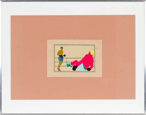 1966 - boksers - Wim Gijzen - gemengde techniek - Collectie CBK Rotterdam