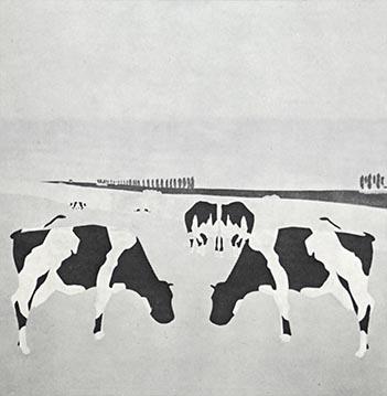 1967 Symmetrische koeien - schilderij 130 x 120 cm Particuliere collectie