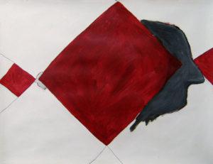 2013 - 'Portret 5' - gemengde techniek op papier 50 x 65 cm - Wim Gijzen - art - Netherlands